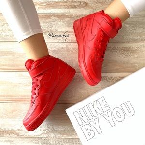 NWT Nike ID Custom Air Force 1 Triple Red